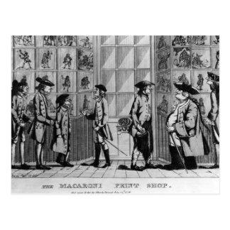 The Macaroni Print Shop, pub. by N. Darley Postcard