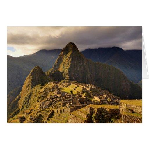 The Machu Picchu Site Near Cusco in Peru Greeting Cards