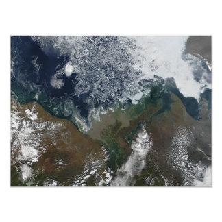 The Mackenzie River empties into Mackenzie Bay Photo Print