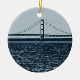 The Mackinac Bridge Christmas Ornament