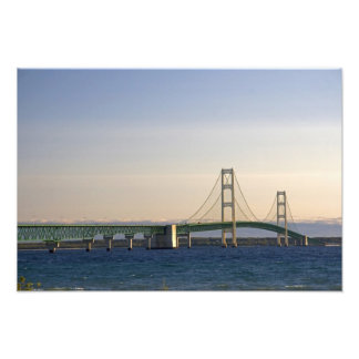 The Mackinac Bridge spanning the Straits of 2 Photo Print