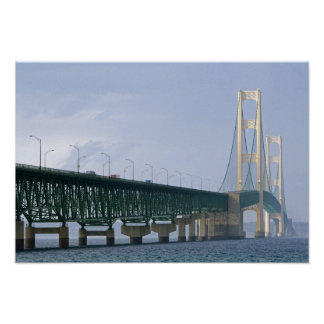 The Mackinac Bridge spanning the Straits of 2 Poster