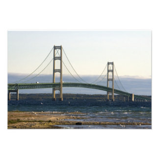 The Mackinac Bridge spanning the Straits of 3 Photo Print