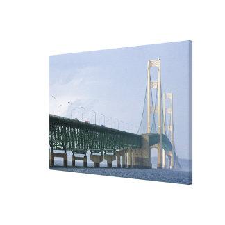 The Mackinac Bridge spanning the Straits of Canvas Print