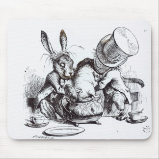 The Mad Hatter and the March Hare Mouse Pad