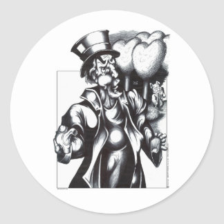 The Mad Hatter Classic Round Sticker