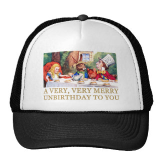 THE MAD HATTER WISHES ALICE A MERRY UNBIRTHDAY! TRUCKER HAT
