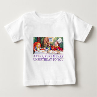 THE MAD HATTER WISHES ALICE A MERRY UNBIRTHDAY! SHIRTS
