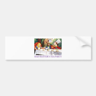 THE MAD HATTER'S TEA PARTY BUMPER STICKER