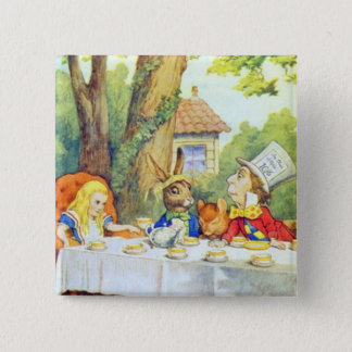 The Mad Hatters Tea Party Full Color 15 Cm Square Badge