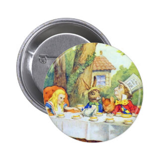 The Mad Hatters Tea Party Full Color 6 Cm Round Badge
