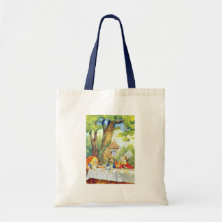 The Mad Hatters Tea Party Full Color Budget Tote Bag
