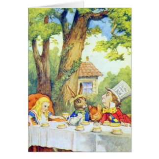 The Mad Hatters Tea Party Full Color Card