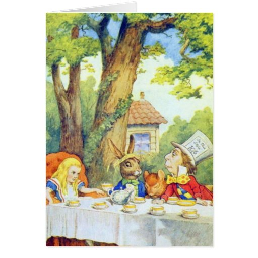 The Mad Hatters Tea Party Full Color Greeting Card