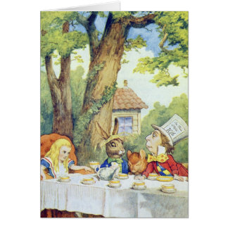 The Mad Hatter's Tea Party Greeting Card