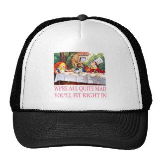 The Mad Hatter's Tea Party in Alice in Wonderland Cap