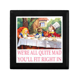 The Mad Hatter's Tea Party in Alice in Wonderland Small Square Gift Box