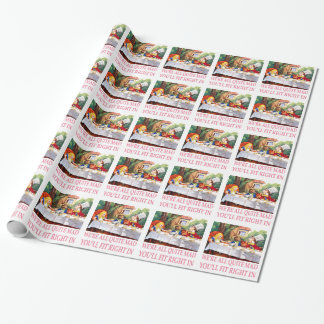 The Mad Hatter's Tea Party in Alice in Wonderland Wrapping Paper