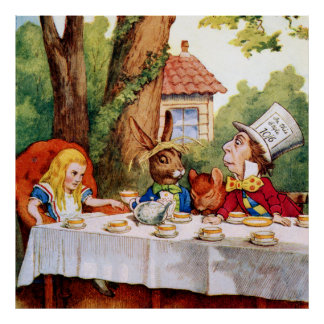 The Mad Hatter's Tea Party in Wonderland Poster