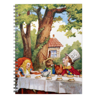 The Mad Hatter's Tea Party in Wonderland Spiral Notebook