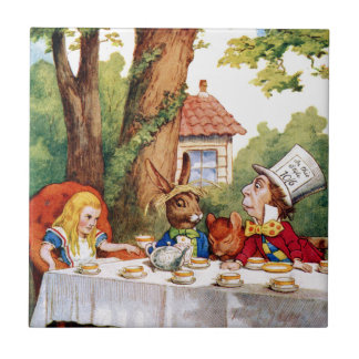 The Mad Hatter's Tea Party in Wonderland Tile