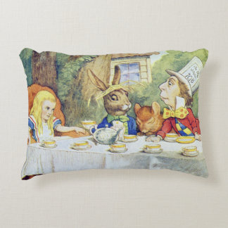 The Mad Hatter's Tea Party Accent Pillow