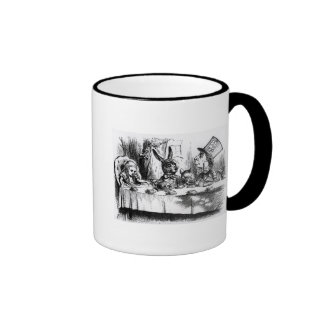 The Mad Hatter's Tea Party Ringer Coffee Mug