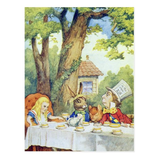 The Mad Hatter's Tea Party Post Cards