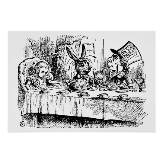 The Mad Hatter's Tea Party Poster