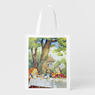 The Mad Hatter's Tea Party Reusable Grocery Bag