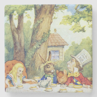 The Mad Hatter's Tea Party Stone Beverage Coaster