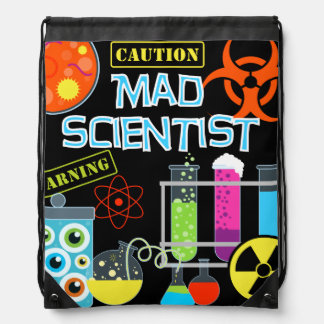 The Mad Scientist Drawstring Backpack Bag