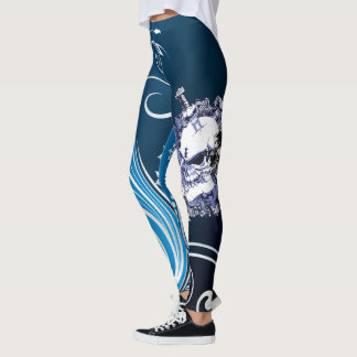 The Mad Skull King Abstract Leggings