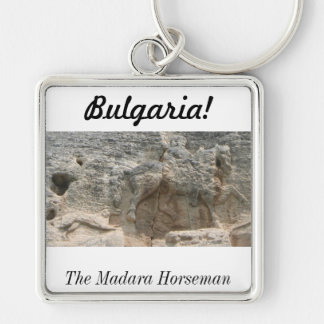 The Madara Horseman - Bulgaria Silver-Colored Square Key Ring