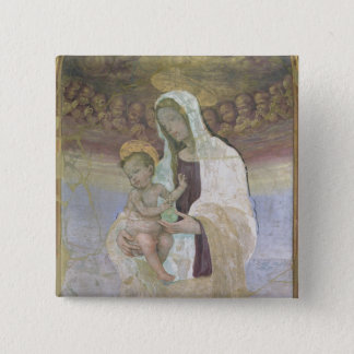 The Madonna and Child, a detail from the tabernacl 15 Cm Square Badge