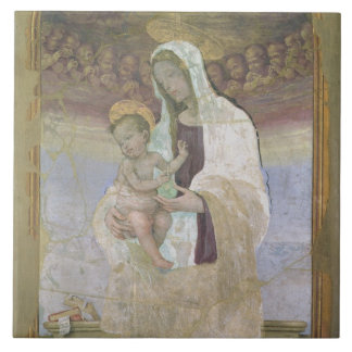 The Madonna and Child, a detail from the tabernacl Tile
