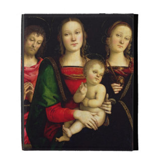 The Madonna and Child with St. John the Baptist an iPad Folio Case