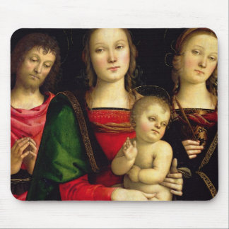 The Madonna and Child with St. John the Baptist an Mouse Pad