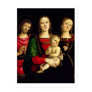 The Madonna and Child with St. John the Baptist an Postcard