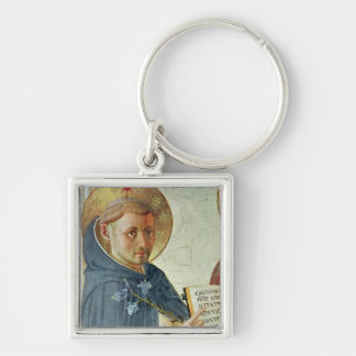 The Madonna delle Ombre, detail of St. Dominic Silver-Colored Square Key Ring
