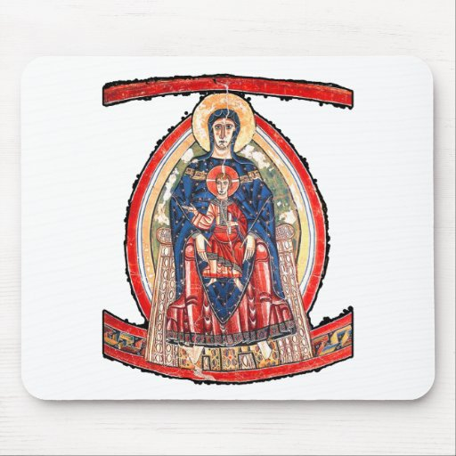The Madonna Enthroned - 12th Century Mouse Pad