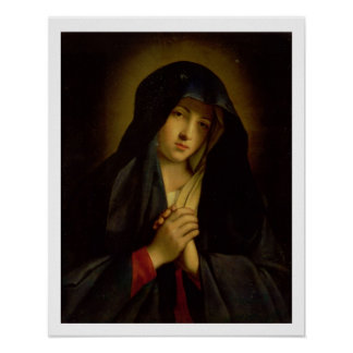 The Madonna in Sorrow (oil on canvas) Poster