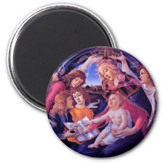The Madonna of the Magnificat 6 Cm Round Magnet