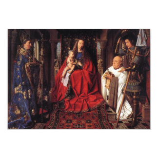 The Madonna with Canon van der Paele, Jan van Eyck 9 Cm X 13 Cm Invitation Card