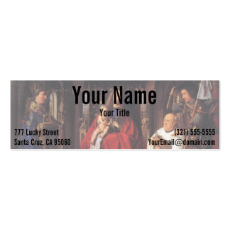 The Madonna with Canon van der Paele, Jan van Eyck Business Card Template