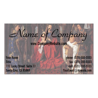 The Madonna with Canon van der Paele, Jan van Eyck Business Card Templates