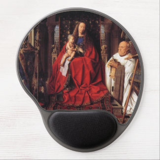 The Madonna with Canon van der Paele Jan van Eyck Gel Mouse Pad