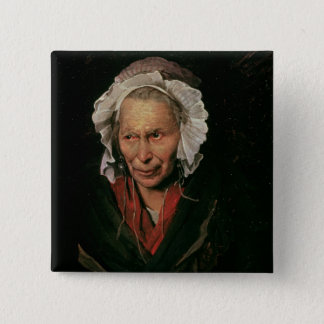 The Madwoman or The Obsession of Envy, 1819-22 15 Cm Square Badge