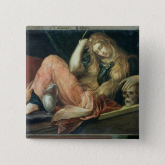 The Magdalene (oil on canvas) 15 Cm Square Badge