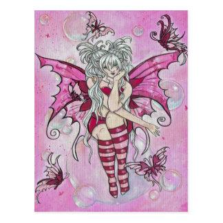 """The Magenta Fairy"" postcard"